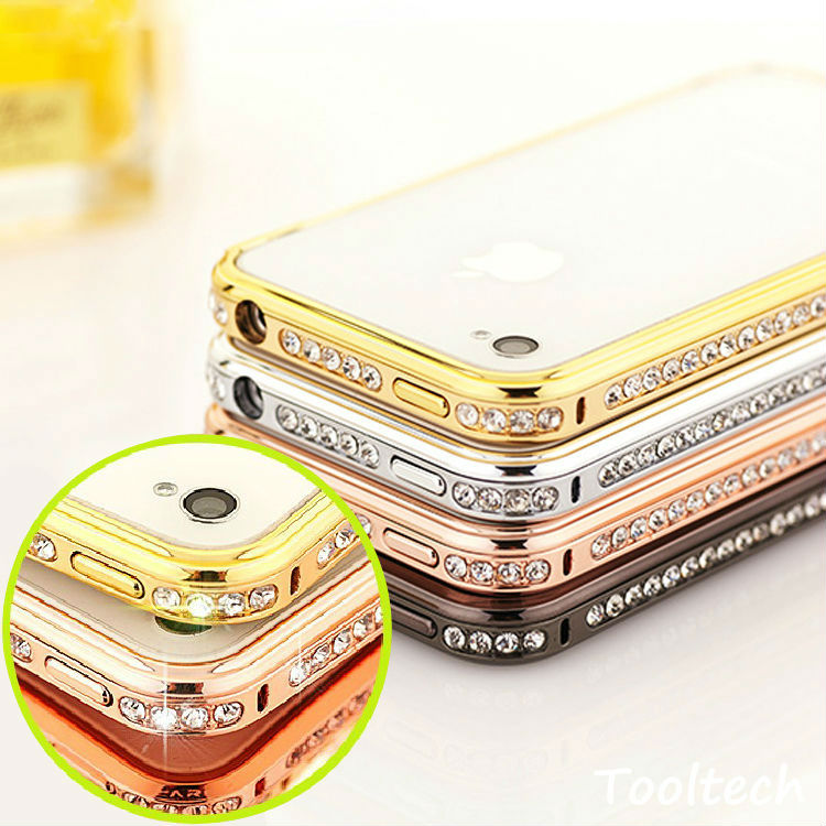 Hot! Luxury Bumper Frame iPhone5 5s case iphone 5 Diamond Gold Slim Shining Bling Case iPhone - Amyrainy Store store