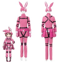 Cosplay Costume Sword Art Online Alternative Gun Gale Online LLENN Cosplay Costume Outfit Women Halloween Carnival Costumes