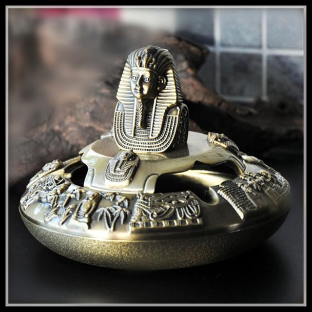 Egypt  Ashtray Tutankhamun Ash Tray Vintage Cigar Ashtrays Funny Gift Metal Crafts