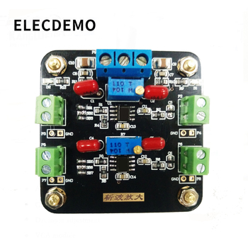ICL7650 Module Weak Signal Amplification DC Signal Amplification Chopper Amplifier Dual tlc2652 module weak signal amplification dc signal amplification chopper amplifier function demo board