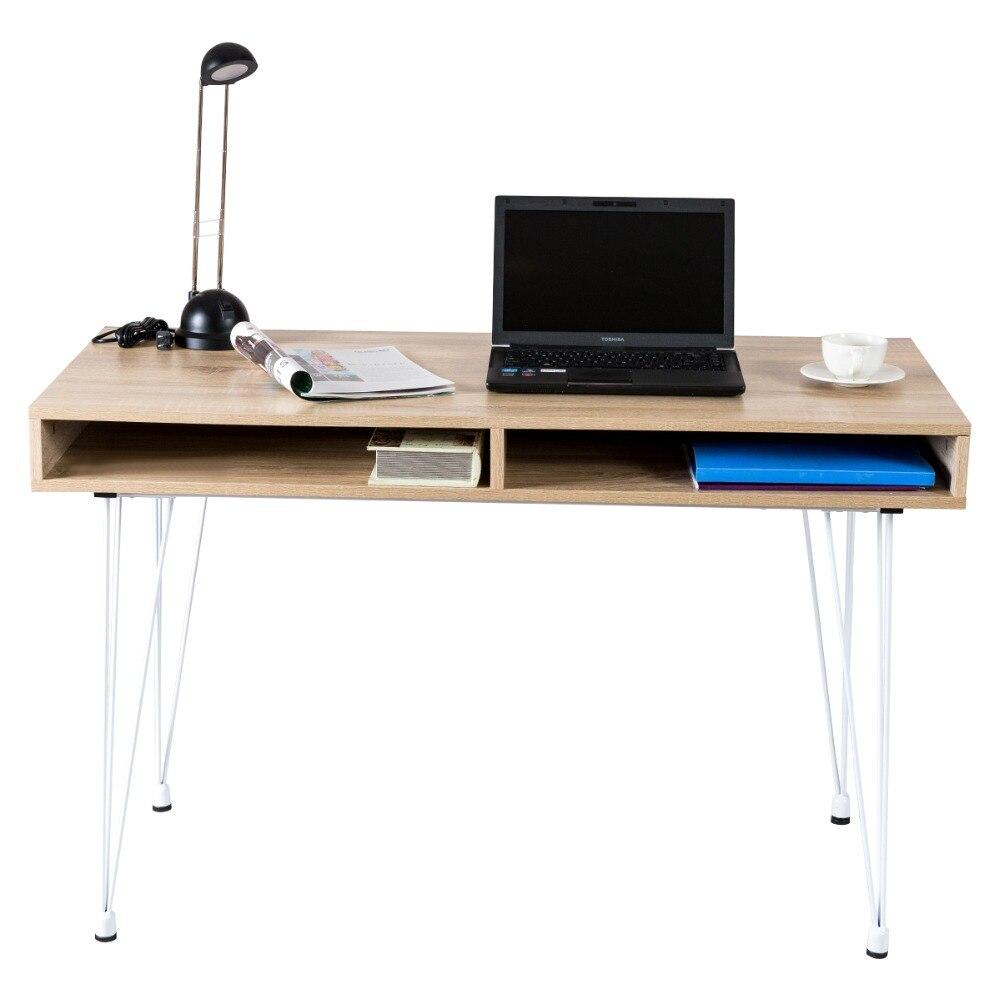 Escritorio de ordenador con balda fija  Mesa de ordenador  Mesa de oficina HW55427Escritorio de ordenador con balda fija  Mesa de ordenador  Mesa de oficina HW55427