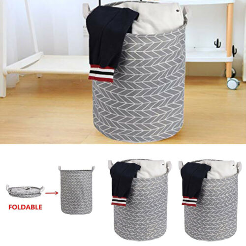 Folding Geometry  Canvas Printing Kids Toys Dirty Washing Clothes Toys Storage Bucket Dirty Laundry Basket Hot