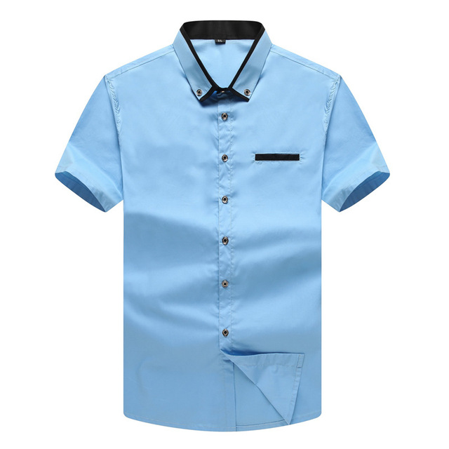 Verano los hombres de Moda Casual camisa de Los Hombres de Algodón de Manga Corta Más El Tamaño camisas camisas MA07 L-7XL