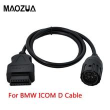 Maozua Cable de diagnóstico para motocicletas, adaptador de 10 pines a 16 Pines, OBD2, OBDII, para BMW ICOM D