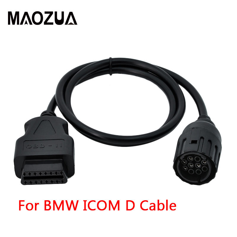 Maozua For BMW ICOM D Cable Motorcycles Motobikes 10 Pin Diagnostic Cable for bmw 10 Pin Adaptor To 16Pin OBD2 OBDII  Cable