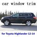 Автомобильные Внешние аксессуары декоративные полосы из нержавеющей стали оконная отделка для Toyota Highlander 2012 2013 2014