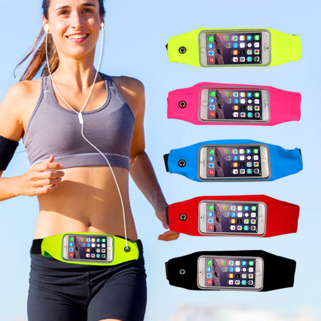 1PC Useful Sport Accessories Gym Waterproof  Waist Bag Belt Pouch Mobile Phone Case For IPhone 6 6s 7 8Plus 5 5s 5c SE Cover 1