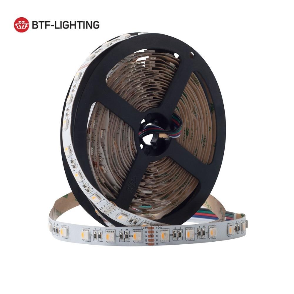 Wholesale 5M 5050 RGBW 4 in 1 RGB+White Strip DC24V Mixed Color 60leds/m White PCB 300LEDs Ribbon Lamps Multi-colored LED Lights