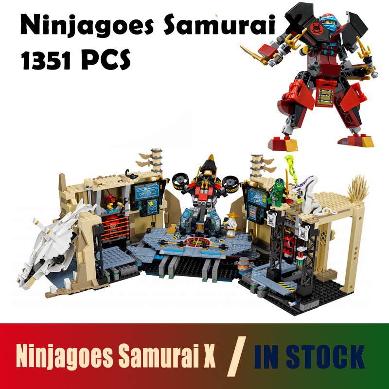 compatible with lego Ninjagoes Model building kits 06039 ninjago Samurai X blocks Educational toys for children hobbies china brand l0090 educational toys for children diy building blocks 00090 compatible with lego