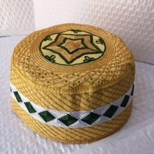 5 Pic Islam męskie muzułmanin modlitwa kapelusze muzułmańskie indie arabska żydowska kapelusz żółty Allah Musulman Hombre czapka Kippah afryki czapki Topi