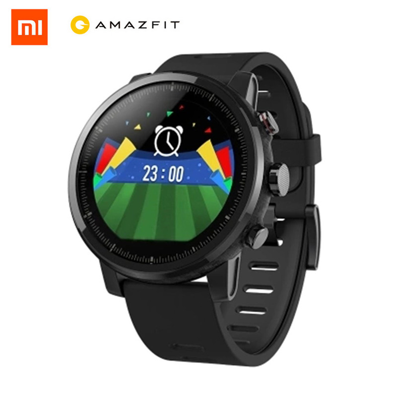 Xiaomi Huami умные часы международные наручные часы Smartwatch пульсометр часы фитнес-трекер gps 5ATM