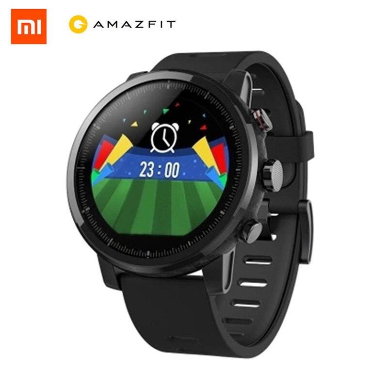 Xiaomi Huami Astuto Della Vigilanza Internazionale Orologio Da Polso Smartwatch Monitor di Frequenza Cardiaca della Vigilanza di Forma Fisica Activity Tracker GPS 5ATM
