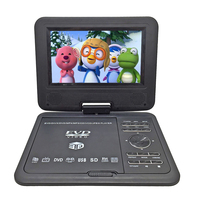 New 7.8 inch Portable DVD EVD VCD SVCD CD Player With Game and radio Function TV AV Support SD MS MMC Card