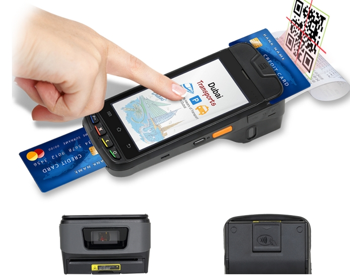 Emv Barcode Scanner NFC IC Card Reader Smartcard Reader Android Handheld Pos Terminal
