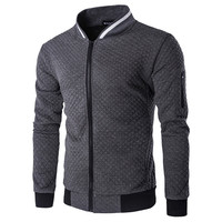 Brand Clothing Men S Sweatshirt Zipper Cardigan Jacket Coat Jacket Fashion Plaid Stand Collar Jacket Mens