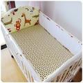 ¡ Promoción! 5 unids malla de cuna bedding set infant toddler cuna juego de cama, (4 bumpers + hoja)