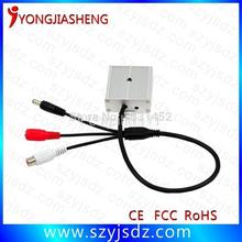 Hot-selling low noise CCTV Audio microphone with power input and output