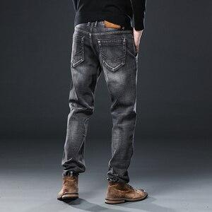 Image 4 - Irmão wang roupas masculinas anti roubo zíper jeans 2020 nova moda casual em linha reta algodão elástico tamanho grande marca masculina jean