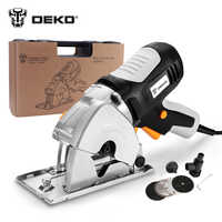 Serra Circular TMK02 DEKO pequeno rodada Mão poder, 4 caixa BMC lâminas de serra elétrica