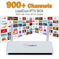 Caixa De Streaming De IPTV Leadcool Android Wifi 1G/8G Itália Portugal Francês Canais Receptor Europa Céu IPTV Arábica o pacote Inclui