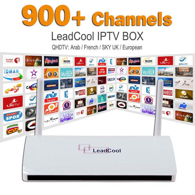 Caja IPTV Streaming de Leadcool Android Wifi 1G/8G Receptor de Canales de Italia Portugal Francés Europa Cielo Árabe IPTV el paquete Incluye