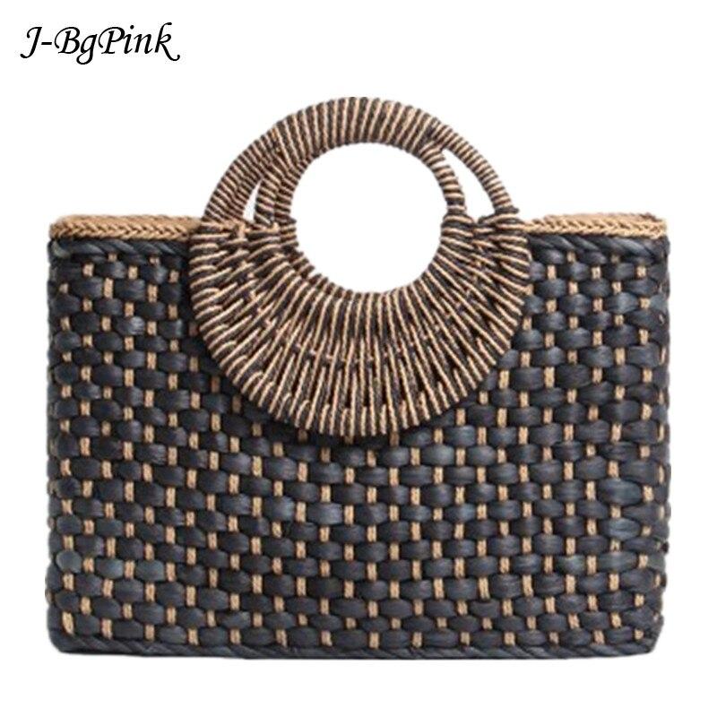 f29487e61cc3 2019 ручная сумка черная сумка для покупок Бали остров ручная работа  Бабочка Пряжка соломенные сумки Богемия ветер пляжная сумка - b.foodspots.me