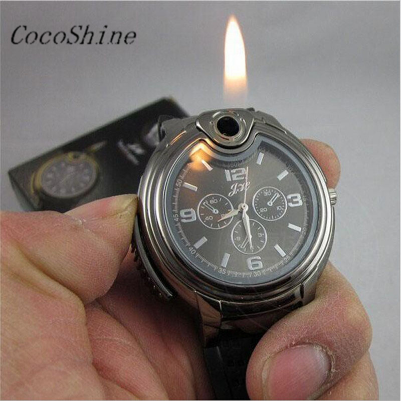CocoShine A 733 Fashion New Military Lighter font b Watch b font Men Quartz Refillable Butane