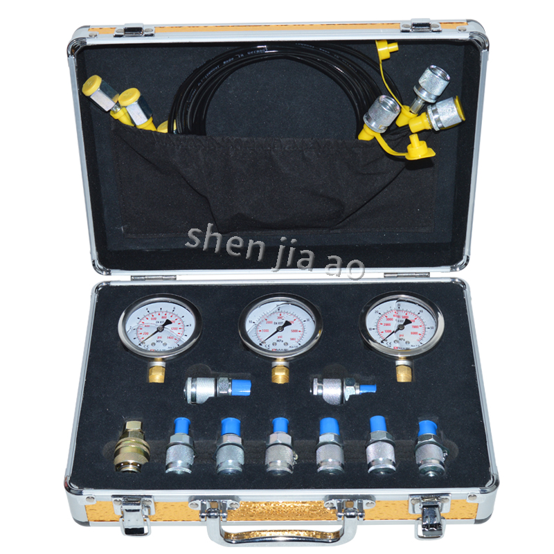 Portable Hydraulic Test Gauges Digger Pressure Test Excavator Hydraulic Pressure Test Kit For Excavator Hydraulic Tester 1PCPortable Hydraulic Test Gauges Digger Pressure Test Excavator Hydraulic Pressure Test Kit For Excavator Hydraulic Tester 1PC