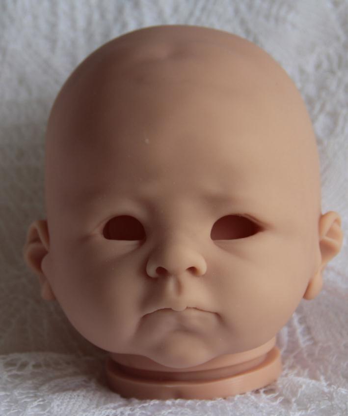 e2034c91d Muñeca Reborn Kit 22 pulgadas muñeca sin pintar piezas vinilo suave tacto  Real 3/4 extremidades sin pintar muñeca en blanco DIY Reborn muñeca