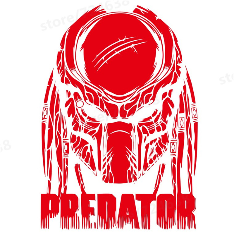 Predator movie comics wall decal film poster retro vinyl sticker home interior living room decor removable black mural in wall stickers from home garden