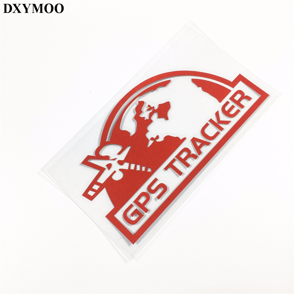 2pcs warning gps tracker system car stickers motorcycle helmet side box sticker decals reflective