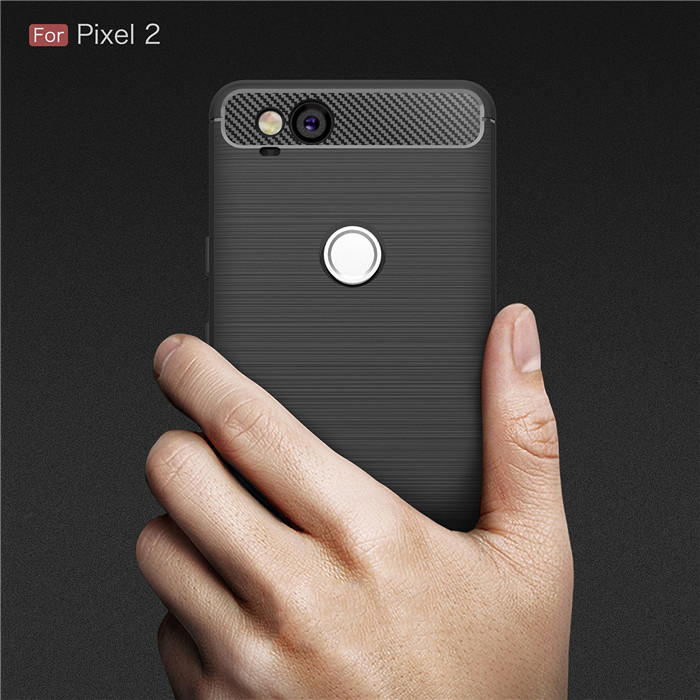 online retailer e7250 ebc81 For Google Pixel 2 2XL 3 3A XL case Luxury Slim Armor Soft Silicone Phone  Back Cover for Pixel 3XL Brushed Carbon Fiber Coque