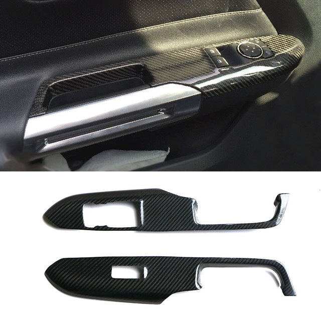 Real Carbon Fiber Car Dashboard Meter Bar Cover Central Control Air Conditioning Cover For Ford Mustang 2015-2017 Interior trim