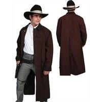 Скалли RW107 WAL M мужские Rangewear холст Duster Jacket орех Средний