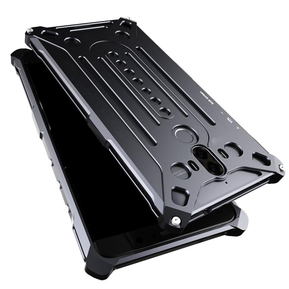 Цена за Роскошный Металлический Алюминий Телефон Случае для Huawei Mate 9 Случаев бесплатно Металлический Винт Инструменты Противоударный Металл Телефон Обложки Капа Funda