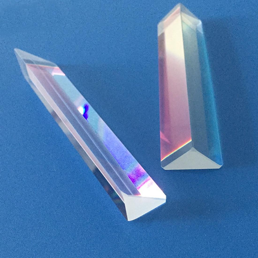 15*15*87cm arc-en-ciel verre optique Triple prisme triangulaire physique enseignement spectre de lumière