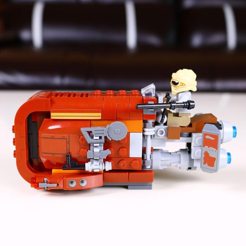 Mylb New Star Wars The Force Éveille Rey de Speeder assemblé blocs de construction Jouets drop shipping