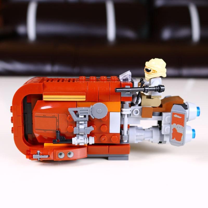 mylb New Star Wars The Force Awakens Rey's Speeder assembled building blocks Toys drop shipping