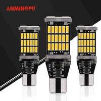 ANMINGPU 1pcs High Power 5W Signal Lamps T15 Led Bulb Backup Parking Light Bulbs W16W Led Canbus Auto Reverse Light 6000K White
