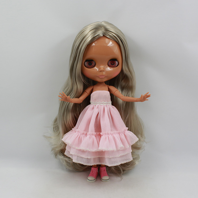 Blyth Nude Doll For Series No.280BL3227 Joint body no bangs Grey Golden Hair Suitable For DIY Change BJD Toy For Girls цены онлайн