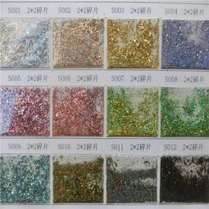 Image 2 - 12jar/set Laser Arcobaleno Unghie Artistiche Glitters Paillettes Copriletto Polvere di Diamante Holo Fiocco Colorato Scintillio