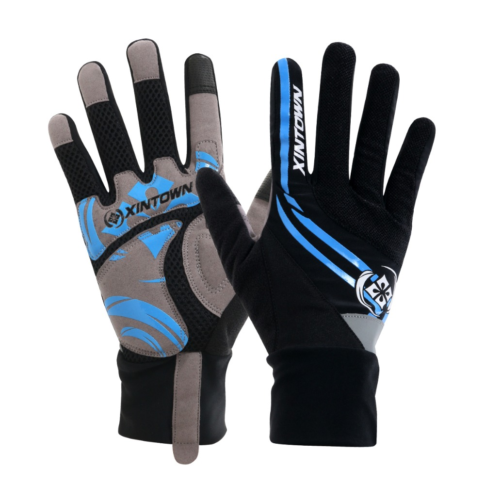 Airsoftsports Tactical Real 2017 Mtb Bicycle Full Fingers Cycling Gloves Thick Wearable Ciclismo Luva Bike Slip