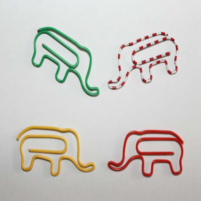 50pcs / Lot Elephant Paper Clips Creative Interesting Bookmark Clip Memo Clip Shaped Paper Clips For Office School Home