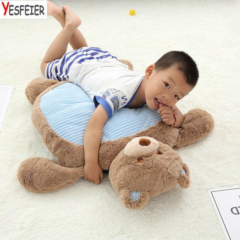 где купить 80*60*12cm bear/dog/rabbit pillow baby plush Cushion kids gift Cute Animals sitting chair Infant seat learn sit play baby toys по лучшей цене