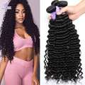 7A Mink Brazilian Kinky Curly Virgin Hair Weave 4 Bundles Deep Wave Brazilian Curly Weave Human Hair Bundles Rosa Hair Products
