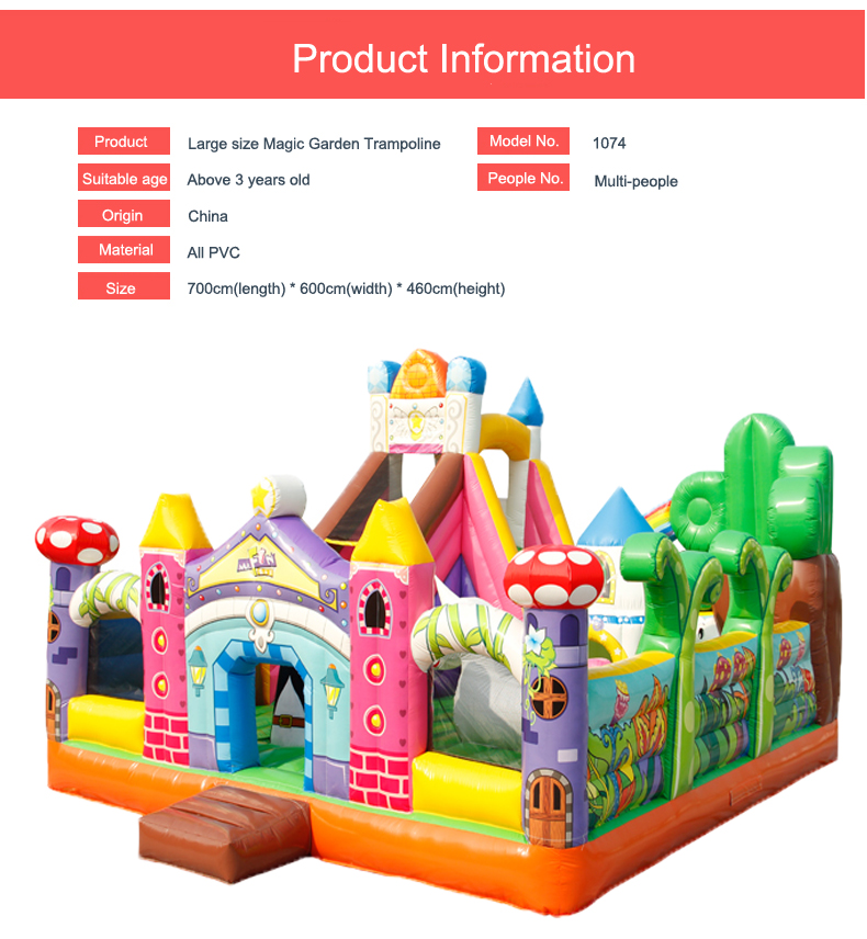 HTB1hDeRbwMPMeJjy1Xcq6xpppXan - You-Toys Huge Commercial Bouncy Inflatable Castle House Magic Garden Bounce House Kids Playground