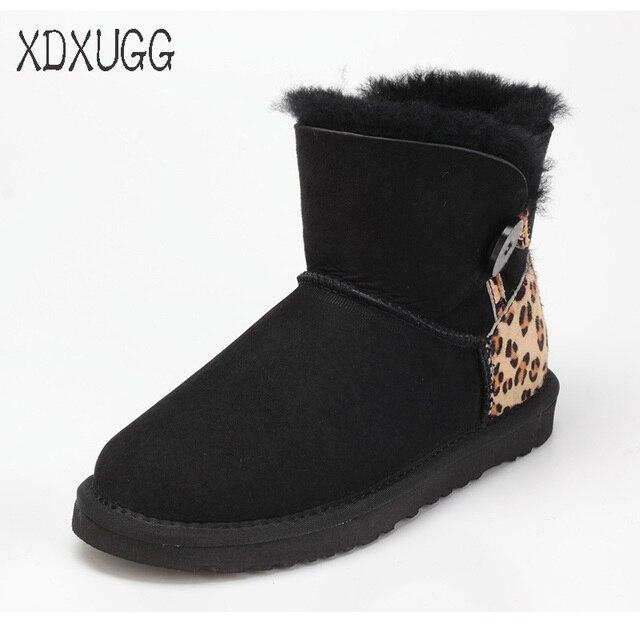 2018 kalite güvencesi, koyun derisi yün kar botları kadın kış düz dipli sıcak kısa çizmeler ile toka, ücretsiz kargo