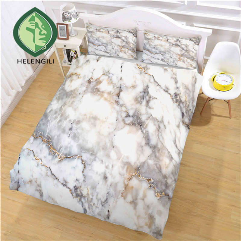 HELENGILI 3D Bedding Set Marble Print Duvet Cover Set Bedclothes with Pillowcase Bed Set Home Textiles #DLS-11HELENGILI 3D Bedding Set Marble Print Duvet Cover Set Bedclothes with Pillowcase Bed Set Home Textiles #DLS-11