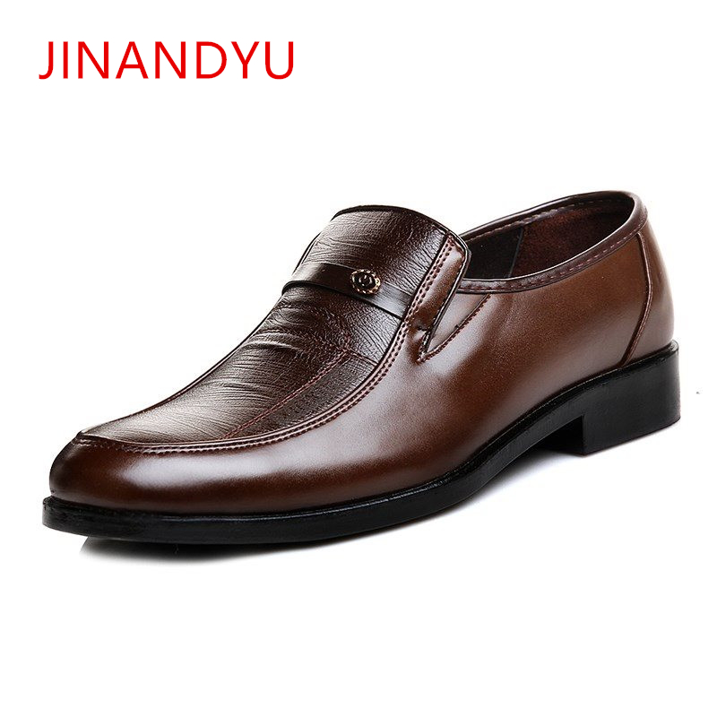 Italian Brand Leather Mens Formal Shoes Men Classic Oxford Shoes for Men Leather Dress Shoes Men Loafers Black Brown in Formal Shoes from Shoes