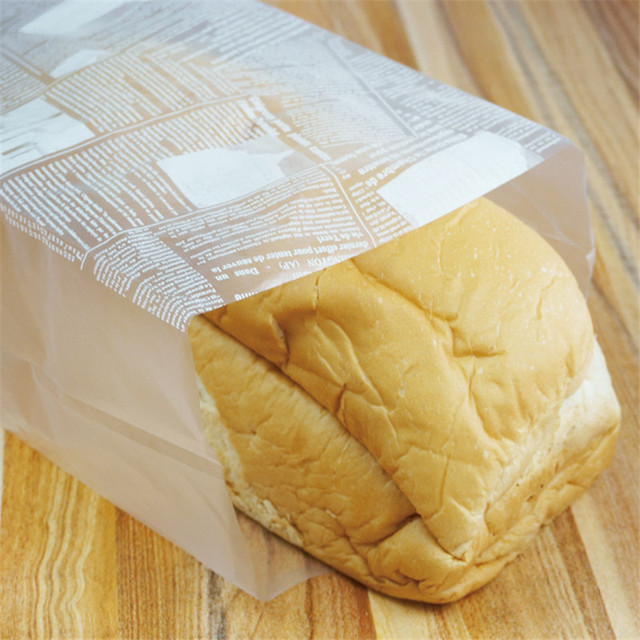 100 Pcs Translucent Large Size Breakfast Bags Bread Toast Puff Pastry Donuts Biscuits Storage Pouch